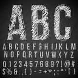 pencil font - 119831441