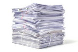Stack of Documents isolated on white background - 119836210