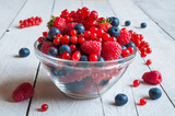 Assorted red and blue berries  - 119841272
