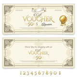 Fototapety Gift Voucher with Ornaments