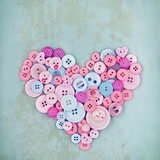 Heart symbol of pink button - 119846626