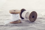 Wooden ribbon spools - 119846826