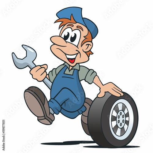 Kfz Mechaniker Auto Reifen Rad