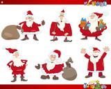 santa on christmas set