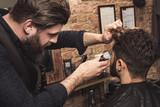 Customer in hairdresser salon