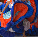 Background with a Costa Rican dancers - 119915233