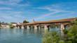 Holzbrücke Bad Säckingen im Sommer