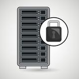 server computer secure web vector illustration eps10 eps 10