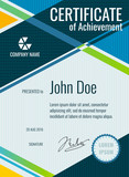 Achievement, award vector certificate design