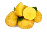 Potato Sweet Batata Isolated on White Background