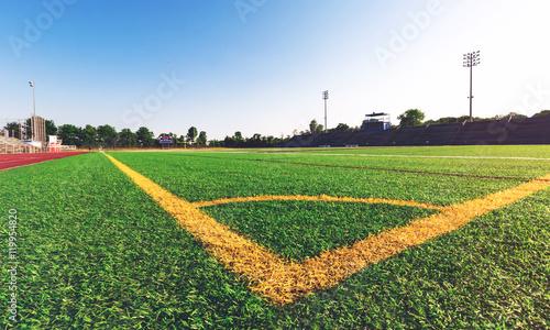 Corner lines on a soccer field