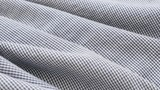Fine fabric check pattern for clothing close-up slow tilt 4K 2160p 30fps UHD footage - Chequered material details shallow DOF 4K 3840X2160 UltraHD tilting video