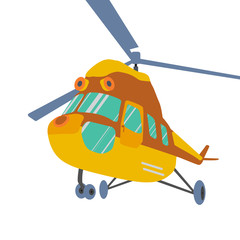 Helicopter icon. Helicopter Vector. Helicopter isometric.