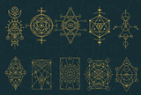 Abstract Sacred Geometry and Magic Symbols Set 4