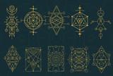 Abstract Sacred Geometry and Magic Symbols Set 4 - 119975411