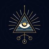 The Eye Symbol - Sacred Geometry Style
