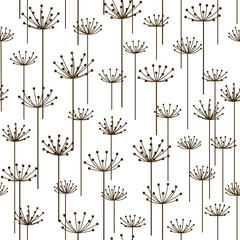 Seamless pattern with stylized flowers