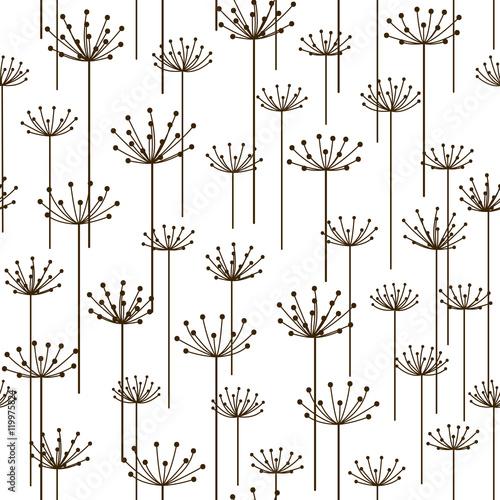 Fototapeta Seamless pattern with stylized flowers