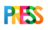 PRESS Colourful Vector Letters Icon