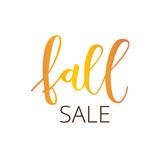 Fall sale hand written inscription - 119978238
