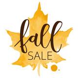 Fall sale hand written inscription - 119978832