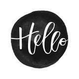 Hello hand written inscription - 119978897