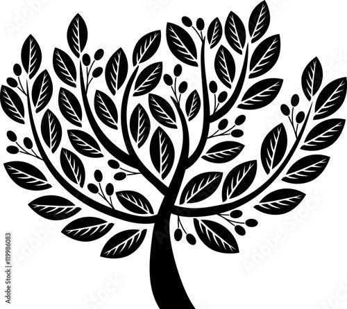 Decorative olive tree