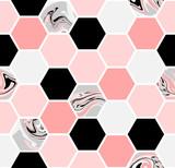 Hexagon Seamless Pattern - 119986231