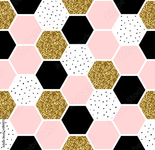 Hexagon Seamless Pattern - 119987030