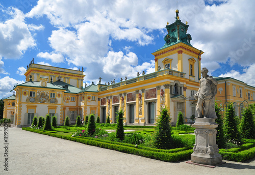 Wilanow palace in historical Warsaw