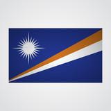 Marshall Islands flag flag on a gray background. Vector illustration