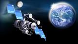 Fototapeta Space - Satellit auf der Umlaufbahn im Weltall,  Erde und Mond © i-picture