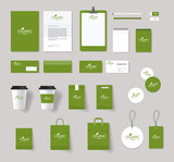 Fototapety organic brading  identity mock up  with logo design.stationary for restaurant and food shop