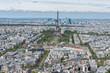 Paris blue sky aerial view landscape panorama