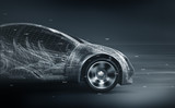 concept car wireframe