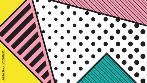 black and white pop art geometric pattern - 120031632