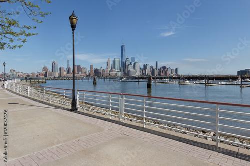 Foto op Aluminium New York New York City views from New Jersey rivers banks