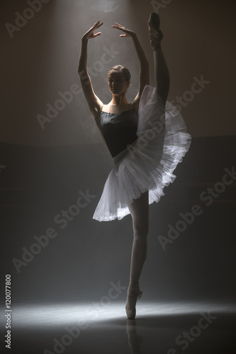 Ballerina in the white tutu Poster