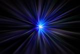 Fototapety Luce Laser - esplosione di luce blu