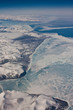 The aerial view at Nunavut province, Canada
