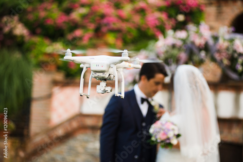 Asian drone wedding