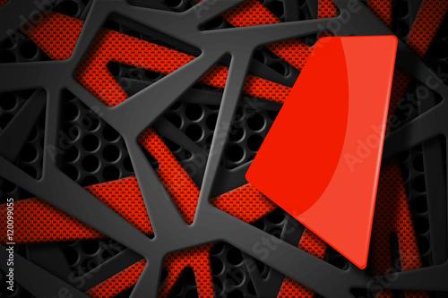 gray and orange carbon fiber frame on black mesh carbon backgrou