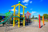 Picture of colorful playground with equipment, Levin, New Zealand - 120100042