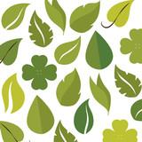 green leaves background natural plant decoration vector illustration