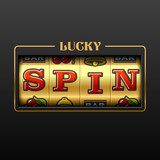 Lucky Spin slot machine casino banner