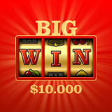 Big Win slot machine casino banner