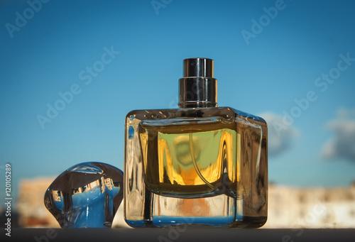 Poster female yellow perfume