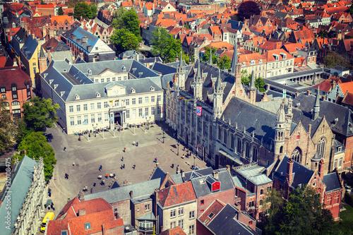 Fotobehang Brugge Aerial view of Bruges (Brugge), Belgium