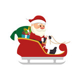 santa claus man. merry christmas season symbol. vector illustration