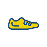 Bike bicycle Cycling shoe sign flat icon on background